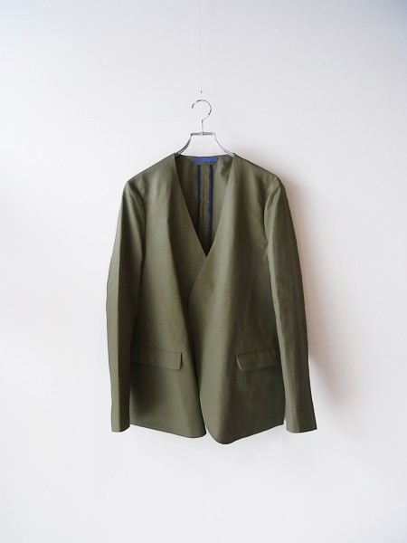 semoh No collar Jacket (KHAKI)